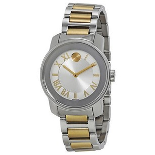 Movado Movado Bold Quartz Silver Dial Two-tone Ladies Watch