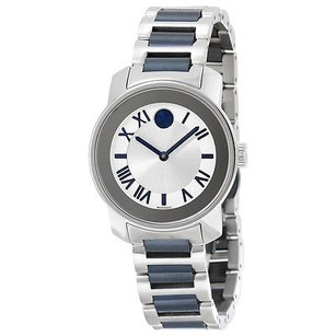 Movado Movado Bold Silver Dial Two Tone Ladies Watch