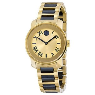 Movado Movado Bold Yellow Gold-tone Dial Two Tone Stainless Steel Ladies Watch