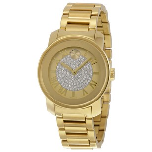 Movado Movado Gold Pave Dial Ladies Watch