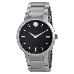 Movado Movado Gravity Black Dial Stainless Steel Mens Watch