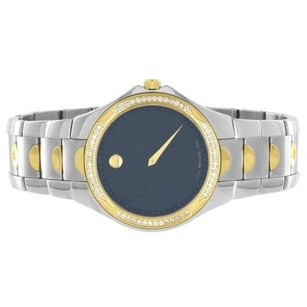 Movado Movado Luno Sport Watch Tone Black Dial 1.00 Carat Water Resistant Swiss Made