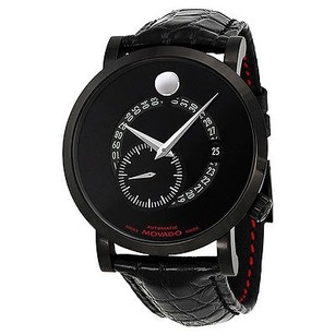Movado Movado Red Label Automatic Animated Date Seconds Black Dial Mens Watch