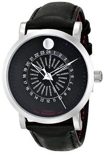 Movado Movado Red Label Automatic Leather Mens Watch 0606697