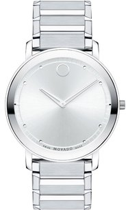 Movado Movado Sapphire Stainless Steel Swiss Quartz Mens Watch