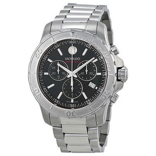Movado Movado Series 800 Chronograph Black Dial Stainless Steel Mens Watch