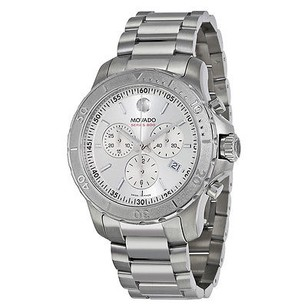 Movado Movado Series 800 Chronograph Silver Dial Stainless Steel Mens Watch