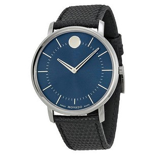 Movado Movado Tc Blue Dial Leather Mens Watch