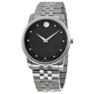 Movado Museum Classic Black Dial Stainless Steel Men's Watch MV0606878