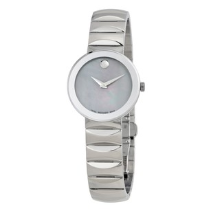 Movado Sapphire Grey Mother of Pearl Dial Ladies Watch MV0607048