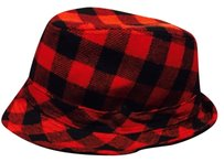 Mudd Black And Red Plaid Checker Fedora Hat