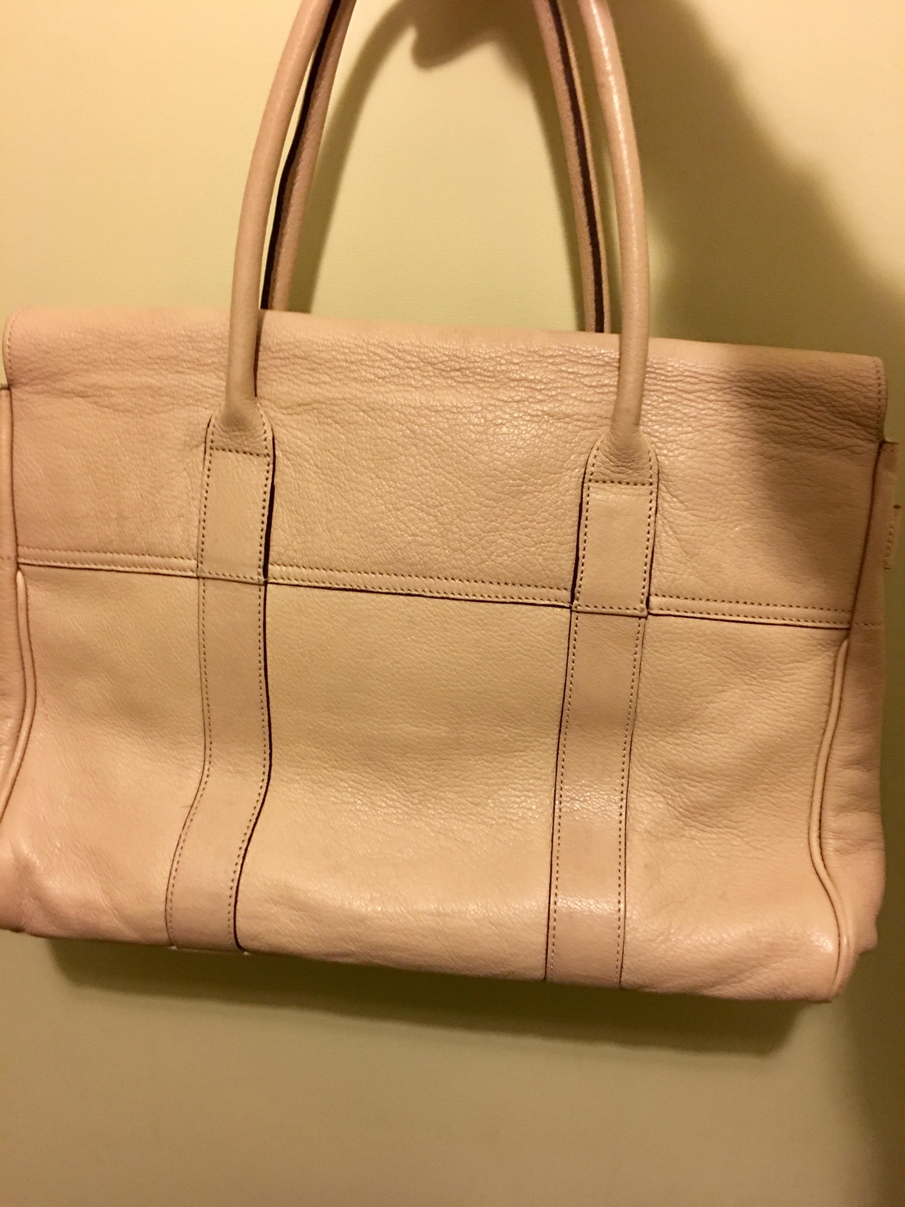 7eb4b2842c reduced mulberry bayswater grained leather tote e4377 07b81  discount code  for mulberry bayswater handbag tote in beige. 12345 f96f4 98b24