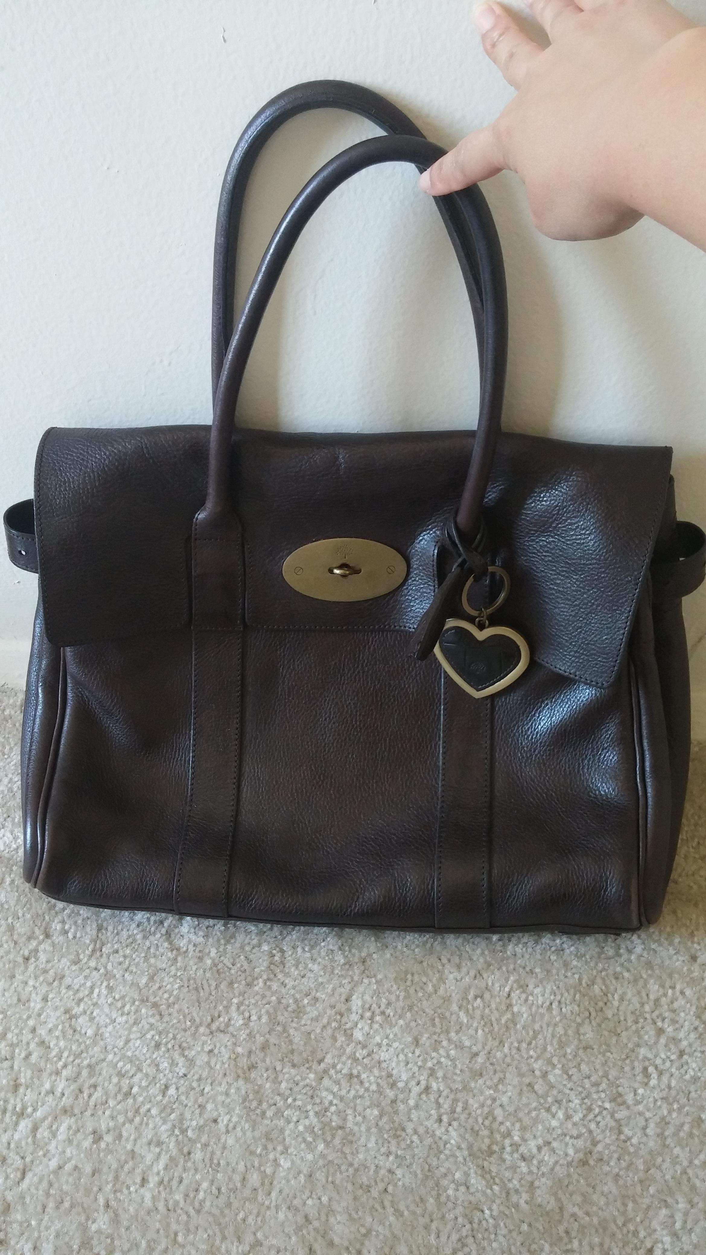 f41fd43a1c ... inexpensive mulberry leather bayswater tote in chocolate brown b1f74  bff70