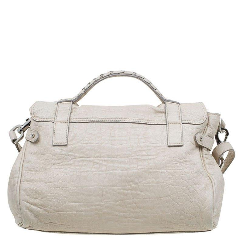 a43822777a5 ... usa mulberry croc embossed limited edition alexa cream crocodile skin  leather shoulder bag tradesy 8bf63 a9824