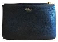 Mulberry Mulberry Grained Leather Zip Coin Pouch in Black