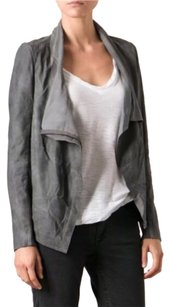 Muubaa charcoal gray Leather Jacket