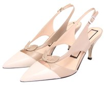 N° 21 Classic Cap Toe Slingback Bow Cut Out Nude, Ivory Pumps