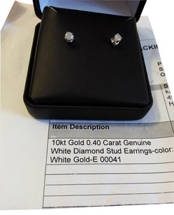 N. D. Gems Genuine .4 carats diamond earrings