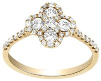 Other 0.75CT DIAMOND 18K ROSE GOLD FLOWER PETAL RING (SIZE 5-8)