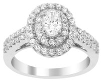 1.04CT DIAMOND 14K WHITE GOLD OVAL RING (SIZE 5-8)