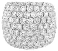 4.54CT Diamond 18k White Gold Right Hand RIng (Size 5-8)