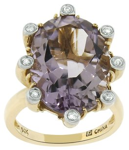 9.25CT AMETHYST 14K YELLOW GOLD COCKTAIL RING SIZE 5-8