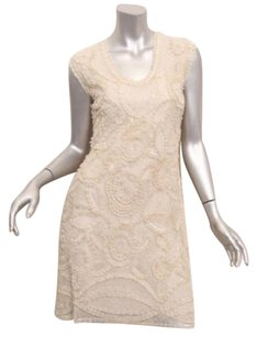 Naeem Khan short dress Ivory Womens Beige on Tradesy