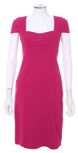 Nanette Lepore Silk Cap Sleeve Pink Sweetheart Pleated Dress
