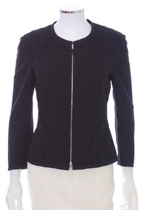 Narciso Rodriguez Couture Moto Assymetrical Black Jacket