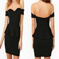 Nasty Gal Elle Peplum Dress