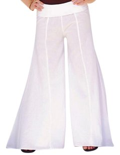 Lirome Bohemian Resort Summer Super Flare Pants White