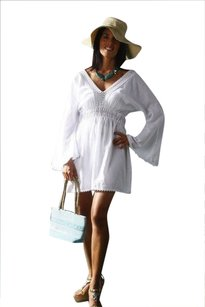 Lirome short dress White Crochet Boho Resort on Tradesy