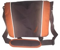 Nautica Laptop Travel Carry-on Grey/orange Messenger Bag