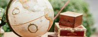 New Globe Guestbook Vintage Style World Globe Travel Wedding Theme Alternative Guest Book Signing Centerpiece