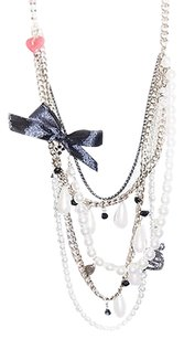 New York & Company Eva Mendez By York Company Clarissa Pearl Chain Necklace