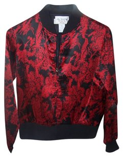 New York & Company Black with red floral Jacket