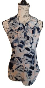 New York & Company Top Navy/Pink