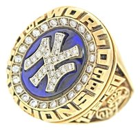 New York Yankees New York Yankees 1998 Balfour 10k Yellow Gold Diamond World Series Ring