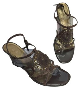 Nickels Womens Nickel Soft Brown Sandals