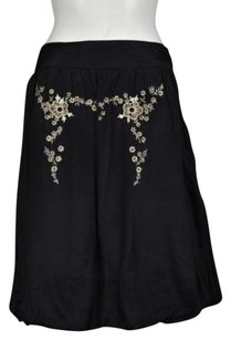 Nicole Miller Womens Skirt Black, Beige, Gold
