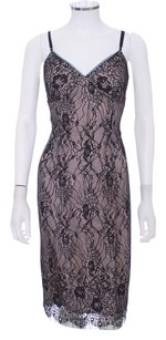 Nicole Miller Lace Nude Slip Adjustable Straps Dress