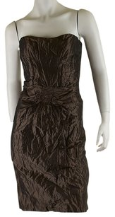 Nicole Miller short dress Brown Polyester on Tradesy