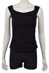Nicole Miller Artelier Womens Sleeveless Casual Shirt Top Black