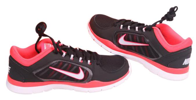 Nike Black New - Flex Trainer 4 - Black/Crimson Regular Sneakers Size US 8.5 Regular Black/Crimson (M, B) cb1b22