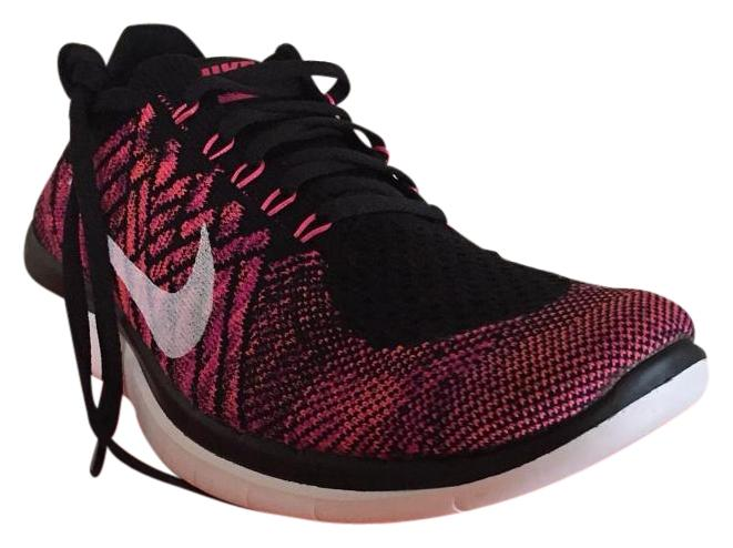 Nike Black/Pink Pow-fuschia Flash Free 4.0 Flyknit Regular Sneakers Size US 8 Regular Flyknit (M, B) b4c2db