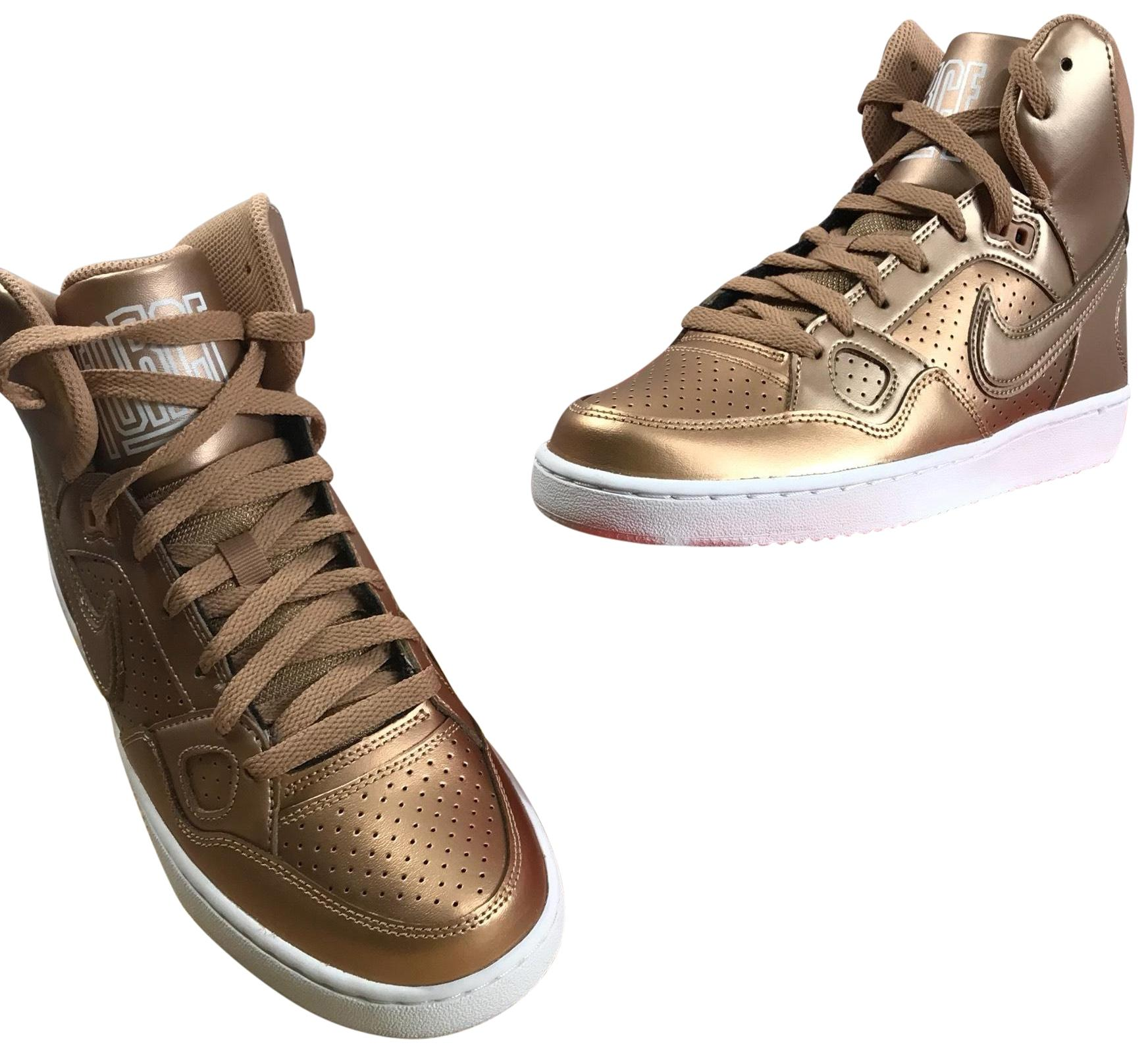 Nike Bronze Metallic Athletic ...