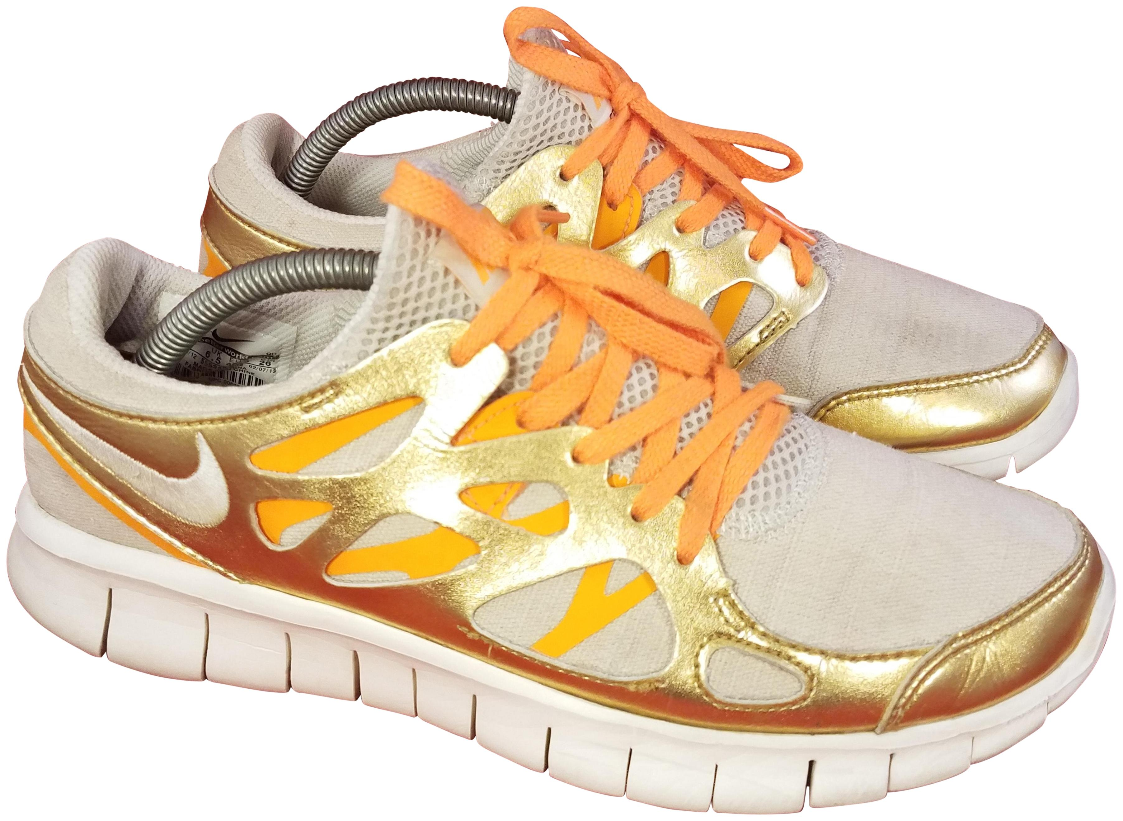 abc6b3b87071 good gray yellow white nike free run 2 mens running shoes 30d87 79a0f  usa nike  gold and beige athletic 4e25a 845fc