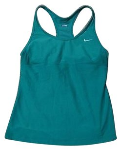 Nike Nike Blue Racerback Built In Bra Casual Sports Athletic Dri-fit Top 18089