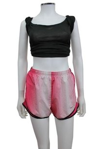 Nike Nike Dri-fit Pink White Polka Dot Athletic Running Shorts Black Piping
