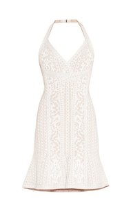 Nilou Herve Leger A-line Halter Bra Bride Dress